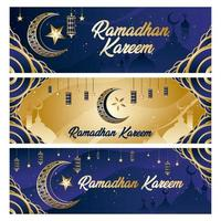 Ramadan Banner Kareem Konzept vektor