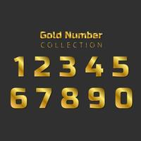 Goldene Zahlensammlung vektor