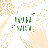 Tropiska löv med inspirerande citat