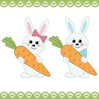 Hasen mit Karotten vektor