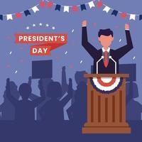 Amerikas förenta stater, presidentens dag koncept