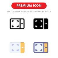 ritning tablett ikon pack isolerad på vit bakgrund. för din webbdesign, logotyp, app, ui. vektorgrafikillustration och redigerbar stroke. eps 10. vektor