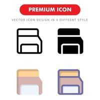 minneskort ikon pack isolerad på vit bakgrund. för din webbdesign, logotyp, app, ui. vektorgrafikillustration och redigerbar stroke. eps 10. vektor