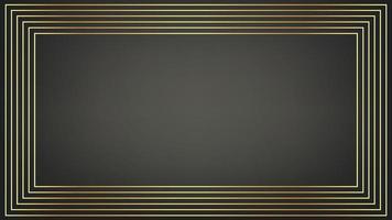 modernes zeitgenössisches Art-Deco-Stil-Goldrahmenlinienmuster vektor