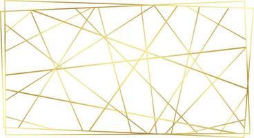 modernes zeitgenössisches goldenes polygonales Linienmuster im Art-Deco-Stil vektor