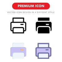 skrivarikonen pack isolerad på vit bakgrund. för din webbdesign, logotyp, app, ui. vektorgrafikillustration och redigerbar stroke. eps 10. vektor