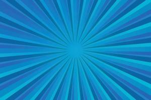 moderne blaue leuchtende Strahlen, abstrakter Hintergrund des Comic-Stils mit Copyspace vektor