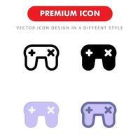 gamepad-ikonpaket isolerad på vit bakgrund. för din webbdesign, logotyp, app, ui. vektorgrafikillustration och redigerbar stroke. eps 10. vektor