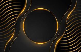 Schwarz-Gold-Luxus-Hintergrund vektor