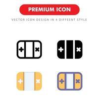 spelkonsol ikon pack isolerad på vit bakgrund. för din webbdesign, logotyp, app, ui. vektorgrafikillustration och redigerbar stroke. eps 10. vektor