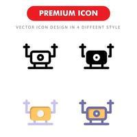 drone icon pack isolerad på vit bakgrund. för din webbdesign, logotyp, app, ui. vektorgrafikillustration och redigerbar stroke. eps 10. vektor