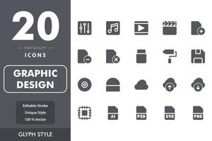 grafisk design ikon pack vektor