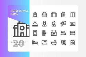 hotellservice ikonpaket isolerad på vit bakgrund. för din webbdesign, logotyp, app, ui. vektorgrafikillustration och redigerbar stroke. eps 10.
