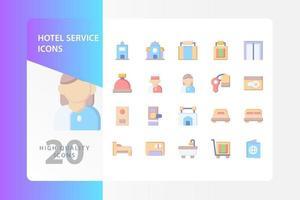 Hotel Service Icon Pack isoliert auf weißem Hintergrund. für Ihr Website-Design, Logo, App, UI. Vektorgrafiken Illustration und bearbeitbarer Strich. eps 10. vektor