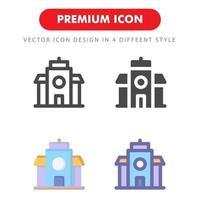 hotell ikon pack isolerad på vit bakgrund. för din webbdesign, logotyp, app, ui. vektorgrafikillustration och redigerbar stroke. eps 10.
