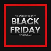 Black Friday Sale Banner-Konzept vektor