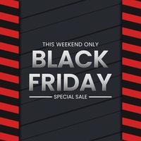 svart fredag försäljning banner koncept vektor