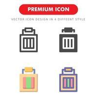 Gepäckikonenpaket lokalisiert auf weißem Hintergrund. für Ihr Website-Design, Logo, App, UI. Vektorgrafiken Illustration und bearbeitbarer Strich. eps 10. vektor