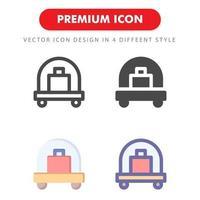 bagage ikon pack isolerad på vit bakgrund. för din webbdesign, logotyp, app, ui. vektorgrafikillustration och redigerbar stroke. eps 10.