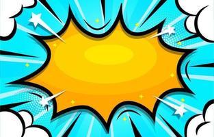 Pop-Art-Halbton mit blauem Hintergrund vektor