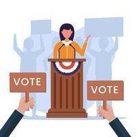 Vereinigte Staaten von Amerika, Präsidentschaftswahlkonzept vektor