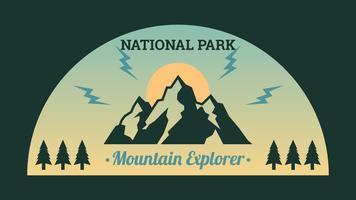 Ikoniska nationalparkvektorer vektor