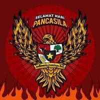 Pancasila-Tag mit Adler-Konzept vektor