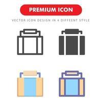 Koffersymbolpackung lokalisiert auf weißem Hintergrund. für Ihr Website-Design, Logo, App, UI. Vektorgrafiken Illustration und bearbeitbarer Strich. eps 10. vektor