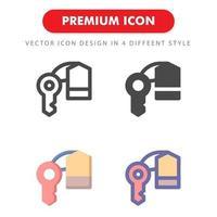 nyckelrum ikon pack isolerad på vit bakgrund. för din webbdesign, logotyp, app, ui. vektorgrafikillustration och redigerbar stroke. eps 10.