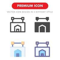 hotell tecken ikon pack isolerad på vit bakgrund. för din webbdesign, logotyp, app, ui. vektorgrafikillustration och redigerbar stroke. eps 10.