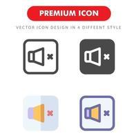 inget ljud ikonpaket isolerad på vit bakgrund. för din webbdesign, logotyp, app, ui. vektorgrafikillustration och redigerbar stroke. eps 10. vektor