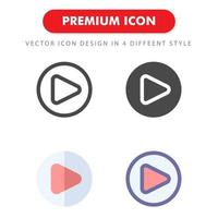 spela ikon pack isolerad på vit bakgrund. för din webbdesign, logotyp, app, ui. vektorgrafikillustration och redigerbar stroke. eps 10. vektor