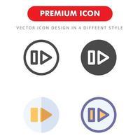 nästa ikonpaket isolerad på vit bakgrund. för din webbdesign, logotyp, app, ui. vektorgrafikillustration och redigerbar stroke. eps 10. vektor