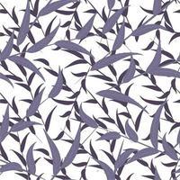 modernes abstraktes Musterdesign der floralen organischen Wiederholung vektor