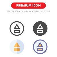 upp ikon pack isolerad på vit bakgrund. för din webbdesign, logotyp, app, ui. vektorgrafikillustration och redigerbar stroke. eps 10. vektor