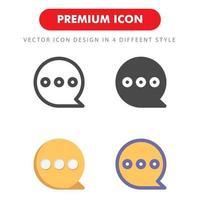 bubbla chat ikon pack isolerad på vit bakgrund. för din webbdesign, logotyp, app, ui. vektorgrafikillustration och redigerbar stroke. eps 10. vektor