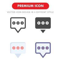 kommentar ikon pack isolerad på vit bakgrund. för din webbdesign, logotyp, app, ui. vektorgrafikillustration och redigerbar stroke. eps 10. vektor