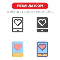 kärlek ikon pack isolerad på vit bakgrund. för din webbdesign, logotyp, app, ui. vektorgrafikillustration och redigerbar stroke. eps 10. vektor
