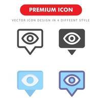 Visa ikon pack isolerad på vit bakgrund. för din webbdesign, logotyp, app, ui. vektorgrafikillustration och redigerbar stroke. eps 10. vektor