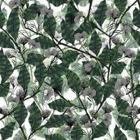 nahtloses Blumenmuster des modernen trendigen abstrakten abstrakten Retro-Artblumenmusters vektor