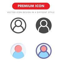 användarikonen pack isolerad på vit bakgrund. för din webbdesign, logotyp, app, ui. vektorgrafikillustration och redigerbar stroke. eps 10. vektor