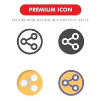dela ikon pack isolerad på vit bakgrund. för din webbdesign, logotyp, app, ui. vektorgrafikillustration och redigerbar stroke. eps 10. vektor