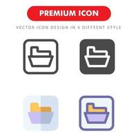 mapp ikon pack isolerad på vit bakgrund. för din webbdesign, logotyp, app, ui. vektorgrafikillustration och redigerbar stroke. eps 10. vektor