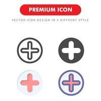plus ikon pack isolerad på vit bakgrund. för din webbdesign, logotyp, app, ui. vektorgrafikillustration och redigerbar stroke. eps 10. vektor