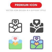 bild kärlek ikon pack isolerad på vit bakgrund. för din webbdesign, logotyp, app, ui. vektorgrafikillustration och redigerbar stroke. eps 10. vektor