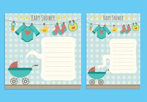 Baby shower bakgrund vektor