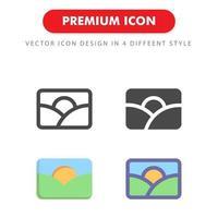 bild ikon pack isolerad på vit bakgrund. för din webbdesign, logotyp, app, ui. vektorgrafikillustration och redigerbar stroke. eps 10. vektor