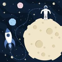måne utrymme scape bakgrund vektor