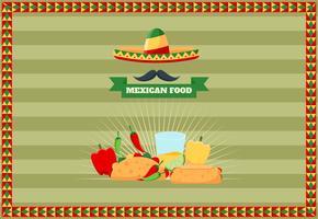 Mexikansk mat meny vektorer