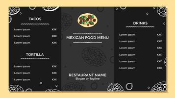 Mexikanischer Essen-Menü-Schablonen-Vektor vektor